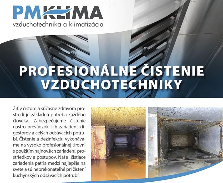 Profesionálne čistenie vzduchotechinky
